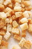 White bread croutons