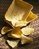 Tortilla chips and tortilla shells