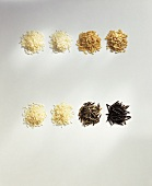 Various types of rice from South and North America