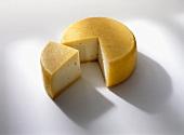 Hirtenkäse cheese from S. Tyrol, a piece cut off