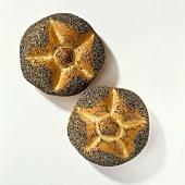 Two poppy seed rolls