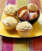 Lemon muffins and coconut muffins