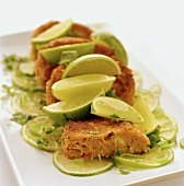 Fish cakes with chili and lime