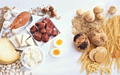 Food rich in protein and carbohydrates