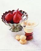 Pere al vino rosso e Zabaione (Red wine pears & Zabaglione)