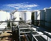 Steel tanks, Lindeman Karadoc Winery, Victoria, Australia