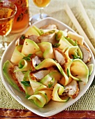 Chicken and melon salad with spring onions