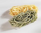 Paglia e fieno (green and yellow tagliatelle)