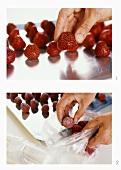 Freezing strawberries