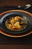 Monkfish and seafood stew