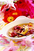 Summery raspberry soup