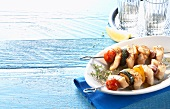 Grilled fish kebabs (Greece)