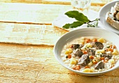 Meat soup with vegetables and rice