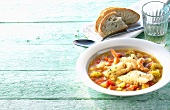 Kakavia (Fish soup with prawns and vegetables, Greece)