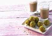 Loukoumades (Honey balls with pistachios, Greece)