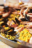Paella with shellfish and shrimps