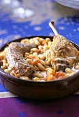 Cassoulet de Toulouse (bean stew with duck and sausage)