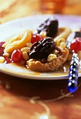 Dried fruit salad with tea and Cognac