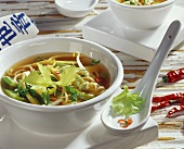 Noodle soup with chicken and sprouts (China)