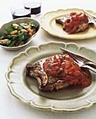 Costolette al pomodoro (Pork chop with tomato sauce)