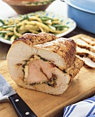 Petto di tacchino alla romana (Stuffed turkey breast)