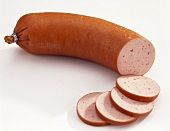 Fleischwurst sausage, partly sliced