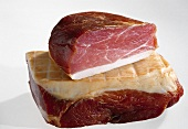 Schinkenspeck (dry cured pork) from Thuringia