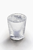 Ice glass with clear schnapps