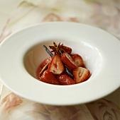 Marinated strawberries with star anise, cinnamon & vanilla