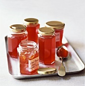 Crab-apple jelly in jars
