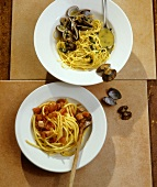 Spaghetti alle vongole & Bucatini all'amatriciana (Italy)
