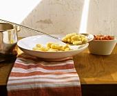 Gnocchi di patate (Home-made potato dumplings, Italy)