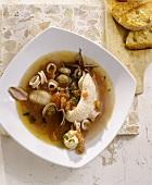 Cacciucco alla livornese (Fish stew from Livorno, Italy)