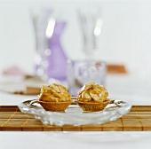 Almond caramel tarts