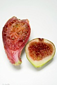Half a prickly pear and half a fig