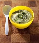 Avocado mayonnaise with herbs