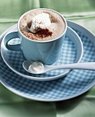 Hot chocolate with cognac and cream