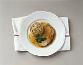 Roast pork with Tyrolean bacon dumplings