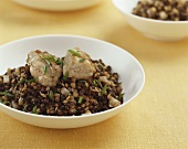 Lentils with veal sweetbreads