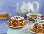 Small pineapple and coconut ring cakes to serve with tea
