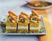Savoury carrot cake with cress