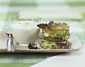 Courgette rösti with yoghurt sauce