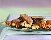 Lamb fillet with chick-peas