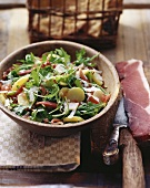 Insalata alla tirolese (Bacon & rocket salad with potatoes)