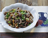 Pizzoccheri di Merano (Buckwheat noodles with leek & bacon sugo)