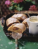 Apple strudel with zabaione (S. Tyrol)