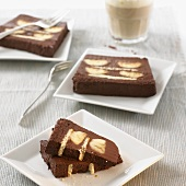 Chocolate banana cake (several pieces)