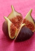 Red fig, quartered