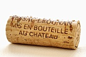 Wine cork from Pessac-Leognan, France (close-up)