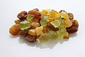 Candied peel (bitter orange and citron) and raisins